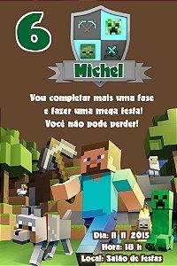 Convite digital personalizado Minecraft 006