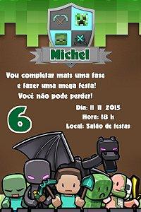 Convite digital personalizado Minecraft 008
