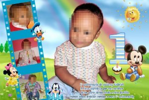 Kit digital personalizado Baby Disney com 7 peças