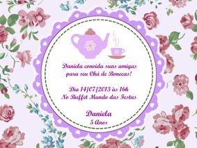 Kit digital personalizado Chá de Bonecas com 13 peças