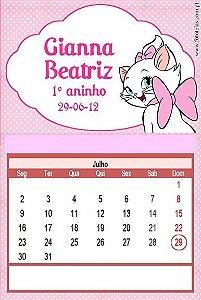 Kit digital personalizado Gatinha Marie com 20 peças