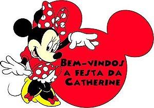 Kit digital personalizado Minnie Vermelha com 19 peças