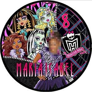 Kit digital personalizado Monster High com 38 peças