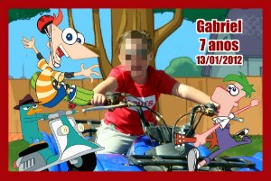 Kit digital personalizado Phineas e Ferb com 5 peças