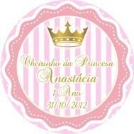 Kit digital personalizado Princesa com 9 peças