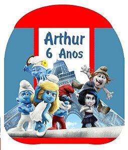 Kit digital personalizado dos Smurfs com 9 peças