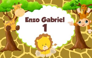 Kit digital personalizado Safari com 10 peças