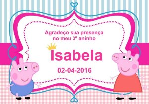 Kit digital personalizado Peppa Pig com 17 peças