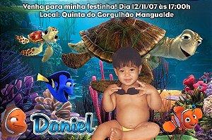 Convite digital personalizado Procurando Nemo com foto 001