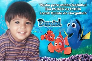 Convite digital personalizado Procurando Nemo com foto 003