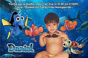 Convite digital personalizado Procurando Nemo com foto 007
