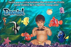Convite digital personalizado Procurando Nemo com foto 008