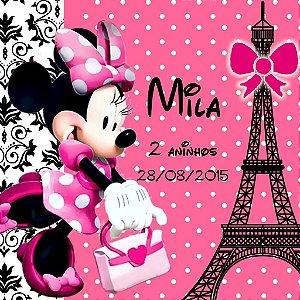 Kit digital personalizado Minnie em Paris com 19 peças