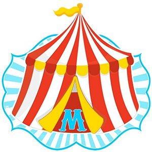 Kit digital personalizado Circo com 21 peças