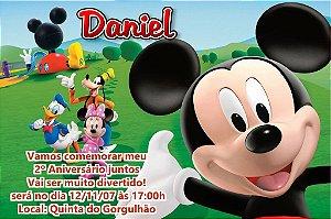 Convite digital personalizado A Casa do Mickey Mouse 004