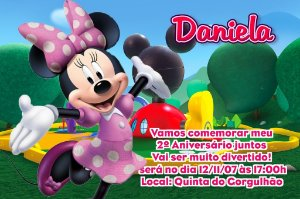 Convite digital personalizado A Casa do Mickey Mouse 005