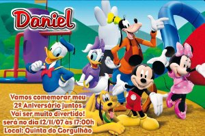 Convite digital personalizado A Casa do Mickey Mouse 006