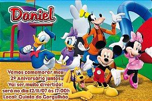 Convite digital personalizado A Casa do Mickey Mouse 006