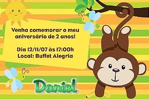 Convite digital personalizado Macaquinho 001