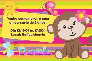 Convite digital personalizado Macaquinha 001