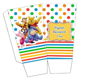 Kit digital personalizado Ursinho Pooh com 16 peças