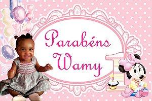 Kit digital personalizado Baby Disney Minnie com 12 peças
