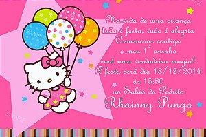 Convite digital personalizado Hello Kitty 015