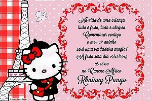 Convite digital personalizado Hello Kitty 016