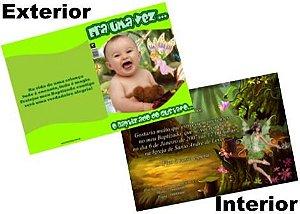 Convite Cartão vertical totalmente impresso