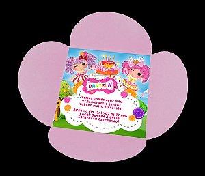 Convite com envelope flor com fita e adesivo