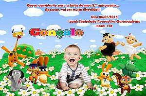 Convite digital personalizado Baby TV 001 com foto