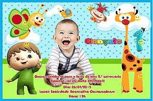 Convite digital personalizado Baby TV 002 com foto