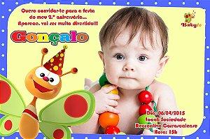 Convite digital personalizado Baby TV 003 com foto
