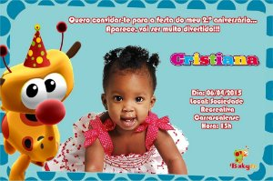 Convite digital personalizado Baby TV 004 com foto