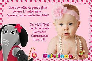 Convite digital personalizado Baby TV 005 com foto