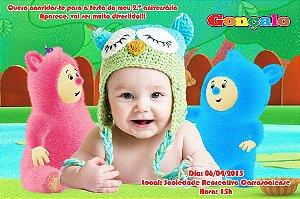 Convite digital personalizado Baby TV 010 com foto