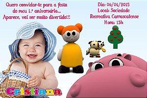 Convite digital personalizado Baby TV 016 com foto