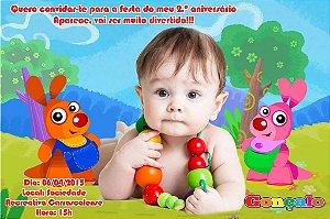 Convite digital personalizado Baby TV 020 com foto