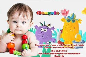 Convite digital personalizado Baby TV 021 com foto