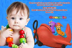 Convite digital personalizado Baby TV 022 com foto