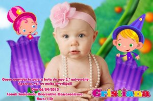 Convite digital personalizado Baby TV 030 com foto