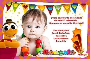 Convite digital personalizado Baby TV 032 com foto