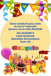 Convite digital personalizado Baby TV 035