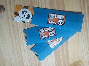 Convite marcador de livro com envelope