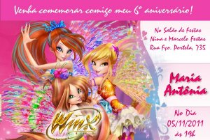Convite digital personalizado Winx Club 004