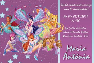 Convite digital personalizado Winx Club 005
