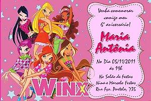 Convite digital personalizado Winx Club 006