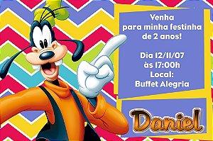 Convite digital personalizado Pateta 002