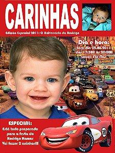 Convite personalizado Capa de Revista