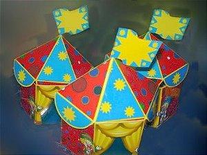 Convite Infantil Personalizado Tenda de Circo 3D